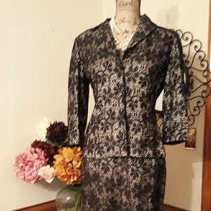 Tahari Black Lace Suit by Arthur Levine